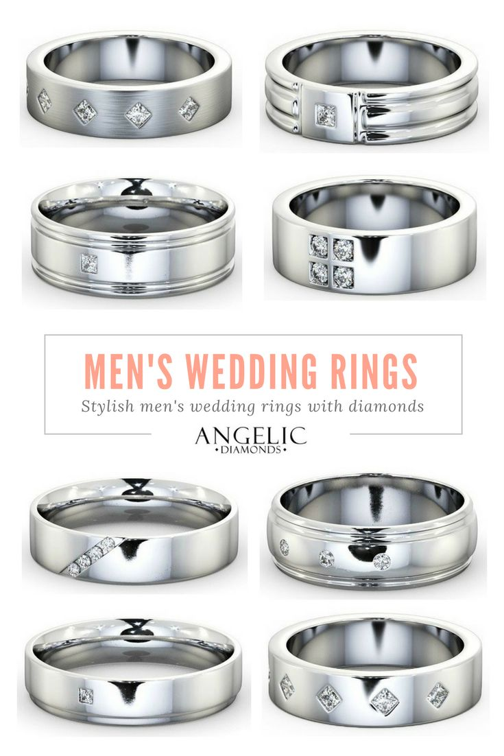 A great selection of classic and modern men's wedding rings with diamonds. Find his perfect diamond wedding ring and customise it with your own message with #AngelicDiamonds. #Wedding #IDo #Ring #Jewellery #Jewelry #Diamond #Diamonds #Present #Gift #Valentines #ValentinesDay #ValentinesDayGift #Love #Gold #WhiteGold #Men