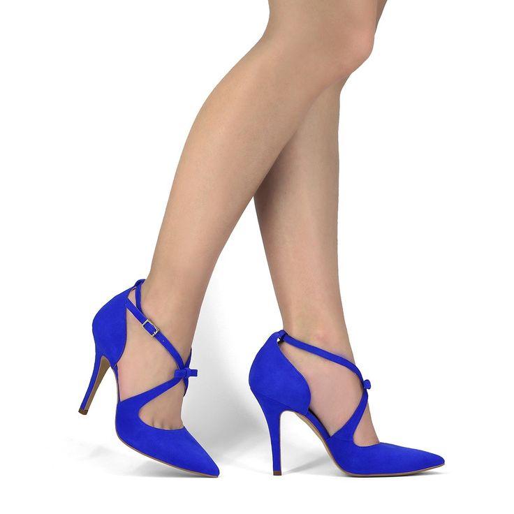 Zapato tacón Vero Campanula azul eléctrico LODI