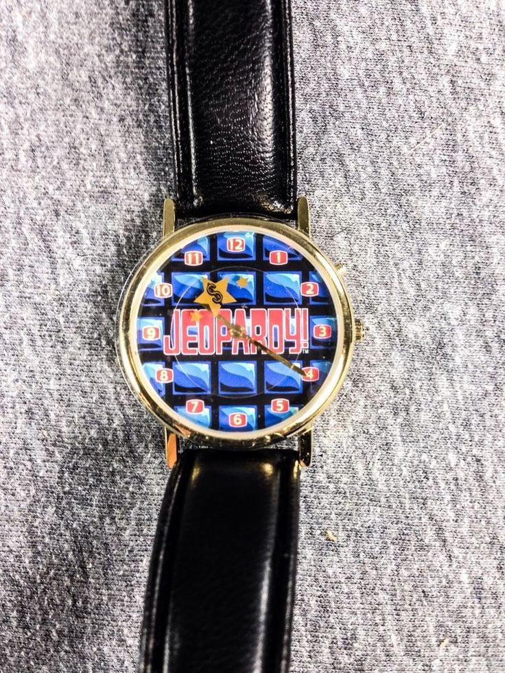Jeopardy Theme Song Wristwatch TV Show Game Show Watch COA Collectors Edition #Jeopardy #GameShow