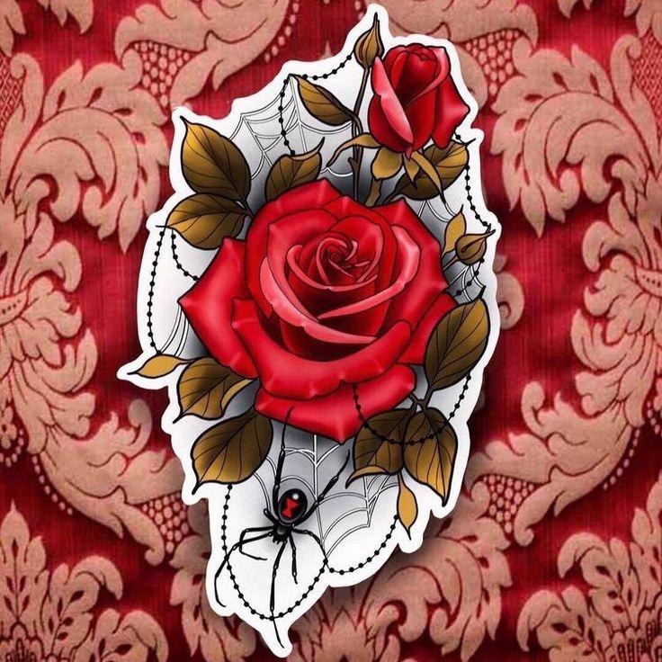 die besten 25 rosa rosen tattoos ideen auf pinterest. Black Bedroom Furniture Sets. Home Design Ideas