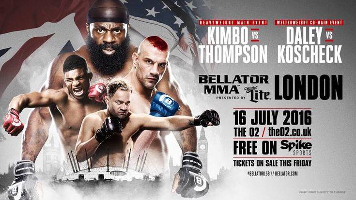 Slice vs. Thompson 2 for Bellator 158