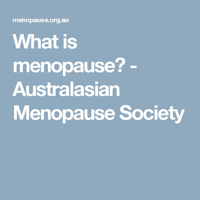 What is menopause? - Australasian Menopause Society
