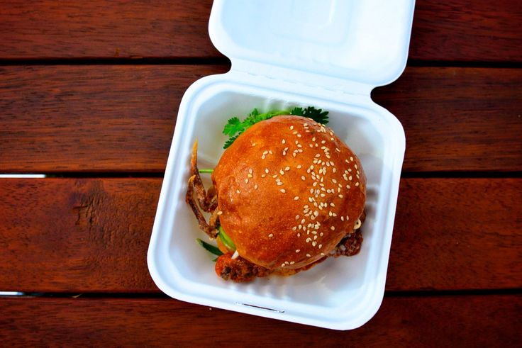 Hammer and Tong | Soft Shell Crab Burger. Night Noodle Markets, Melbourne. © Scott Wright