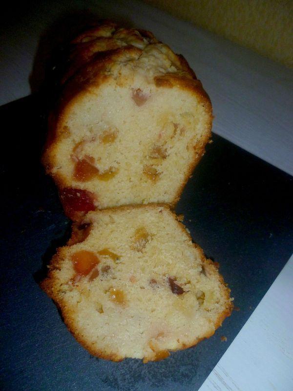 Cake aux fruits confits  #Recette #Patisserie
