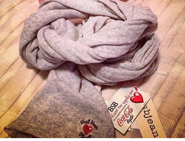Our #special_edition #scarf is still waiting for u in selected #BSB_stores! #EELIA #niosetinkardiasou #cocacola_light
