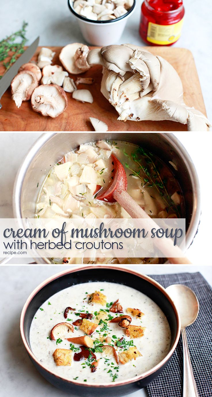 Simmering healthy mushrooms in a rich, creamy soup is a great way to get your kids to eat their vegetables.