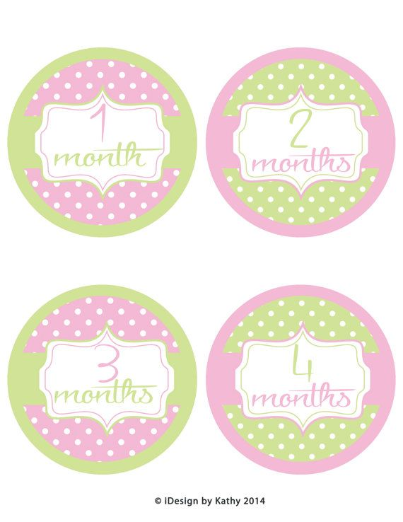 18 Month Stickers: 15 Best Baby Girl Monthly Milestone Stickers Images On