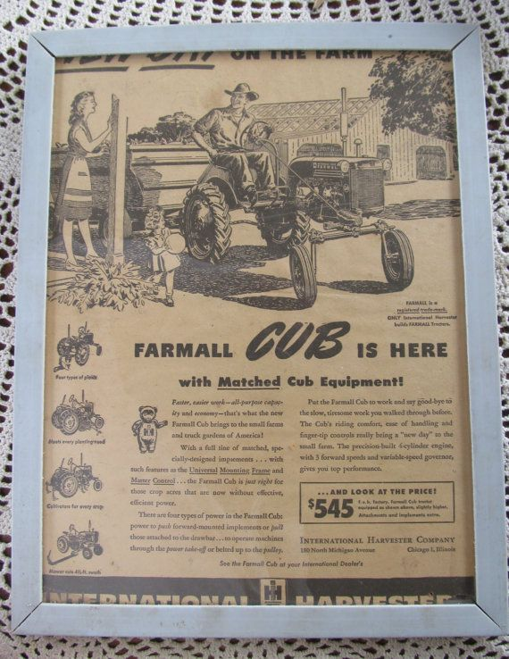94 best images about farmall cub on pinterest old for International harvester decor