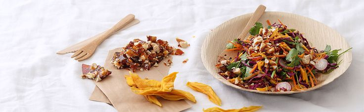Fruity Slaw with Cashew and Sunflower Seed Brittle