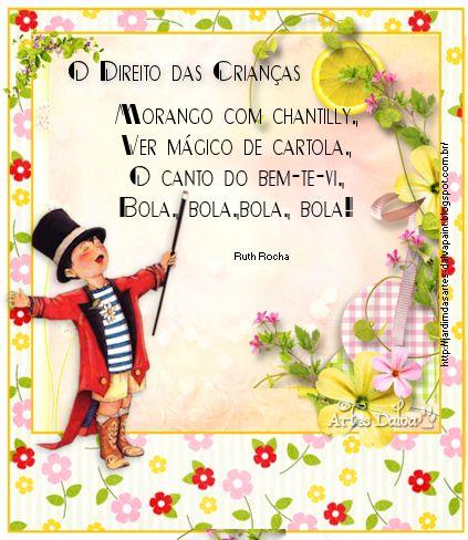 O Direito das Crianças-Ruth Rocha | Jardim das Artes Paint