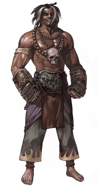 character concept Human Fighter male tribal Cockey monk