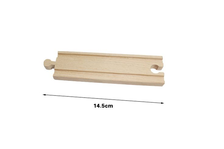 """Thomas and Friends --1Piece Thomas Wooden Train Straight Track Railway Accessories 14.5cm Straight track """""""