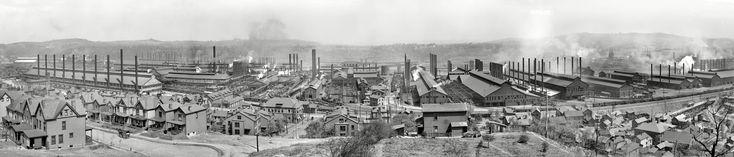 """Homestead, Pennsylvania, circa 1910. """"Homestead Steel Works, Carnegie Steel Co."""""""
