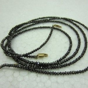 20.0 CARAT NATURAL BLACK LOOSE DIAMOND FACETED BEADS NECKLACE THAT WILL MAKE YOU LOOK REALLY GORGEOUS AT WHOLESALE PRICE.