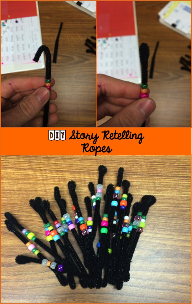 Story retelling ropes for adding a visual and kinesthetic component to retelling & sequence of events. Reading, ELA, manipulative