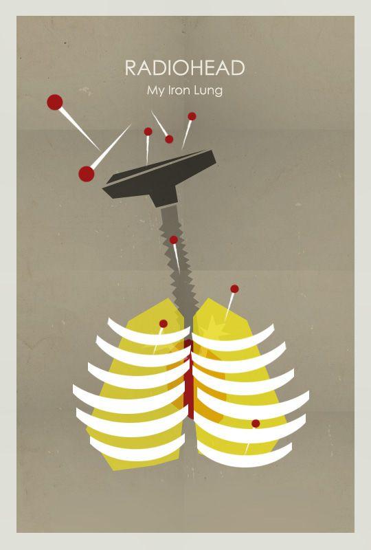 My Iron Lung by Radiohead ~ Minimal Music Poster by Aleksandar Pesevski…
