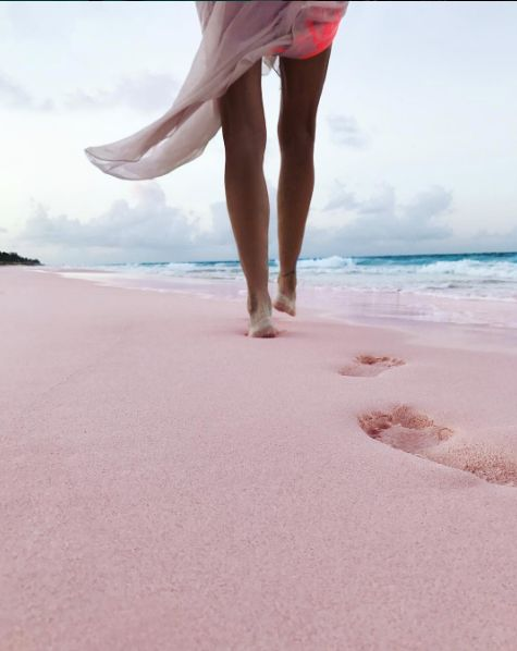 Pink Sand Beach, Harbour Island, Eleuthera, Bahamas. Leave only footprints....