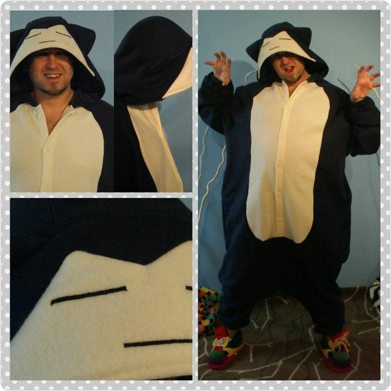 Pokemon Onesie Snorlax Inspired//Pokemon Kigurumi, Adult Onesie, Pokemon Cosplay, Snorlax Inspired Cosplay, Snorlax Costume, MADE TO ORDER