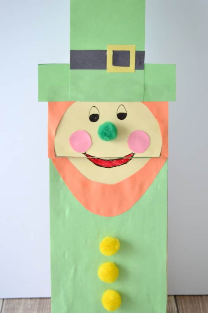 Leprechaun Paper Bag Puppet For St Patricks Day Paper Bag