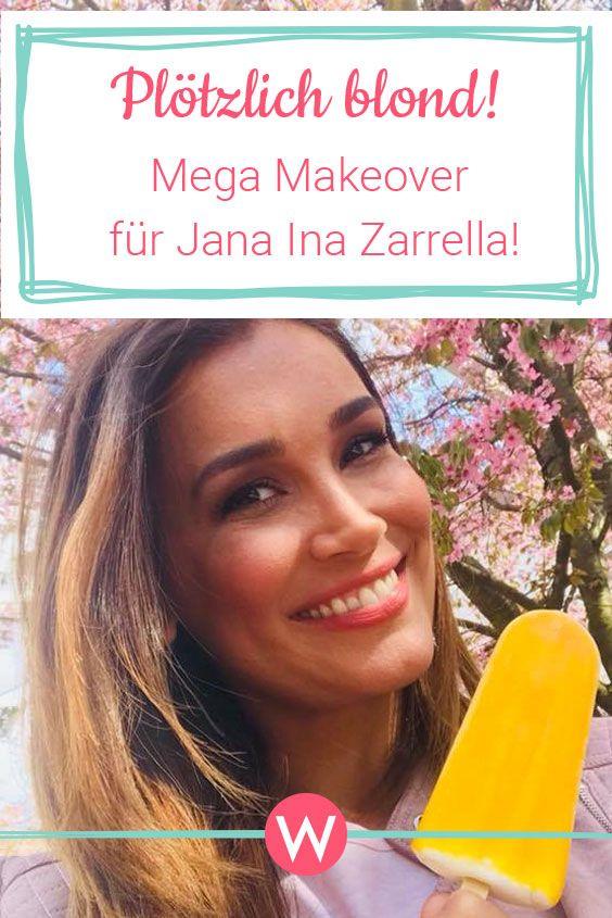 Jana Ina Zarrella Ist Jetzt Blond Star Frisuren Jana Ina