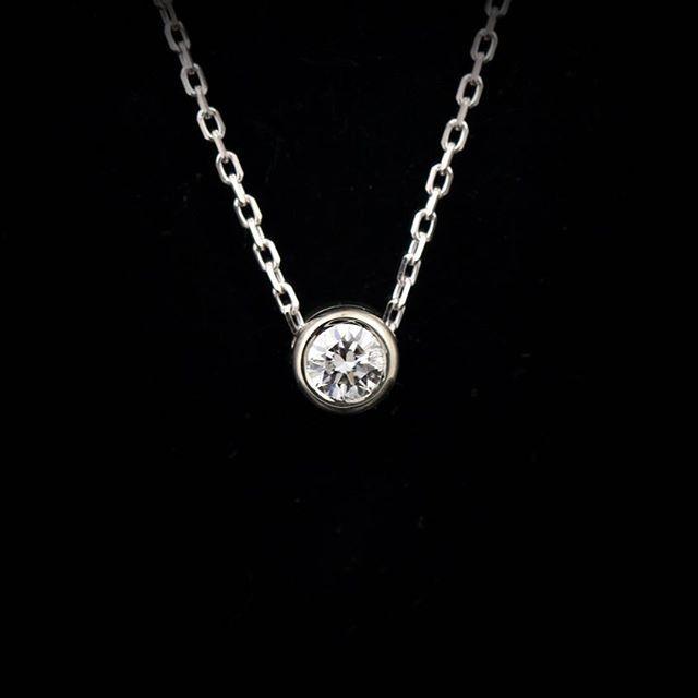 A little delicate diamond ice drop anyone?!   #AbraJewelry #diamond #necklace #jewelry #winter #bling #delicatejewelry #valentine