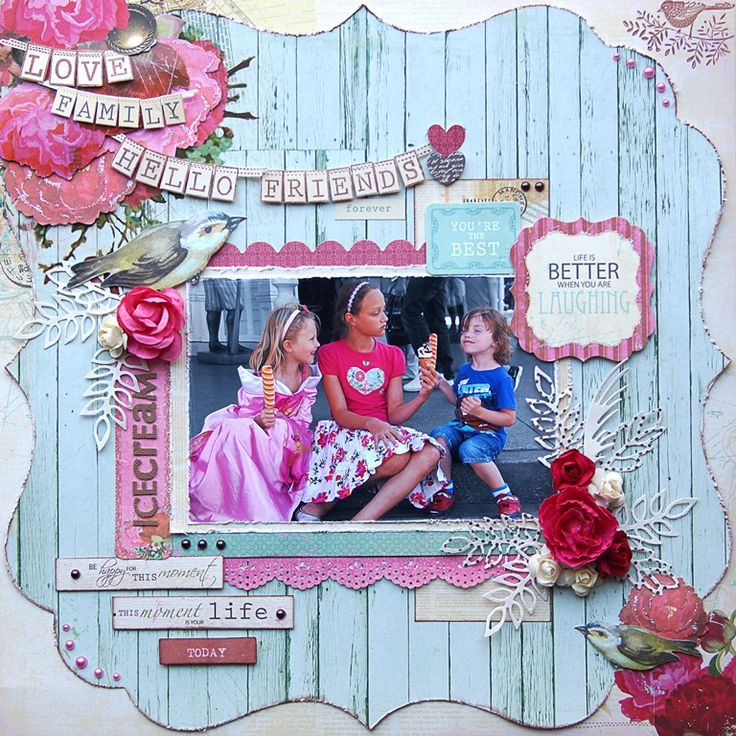 """""""Telegraph Road"""" collection from Kaisercraft. Icecream. http://www.merlyimpressions.co.uk/blog/project-portfolio/scrapbooking/challenge-inspiration-with-telegraph-road/"""