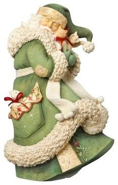 Enesco Heart of Christmas Santa with Kittens Figurine traditional-holiday-accents-and-figurines