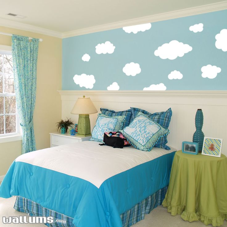 fluffy clouds vinyl wall decal sticker penguin wall on wall cloud id=42434