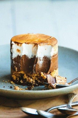 S'mores Custard Cake