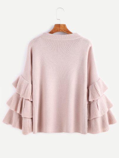 Ber ideen zu rosa pullover auf pinterest vs - Strickanleitung weihnachtspullover ...
