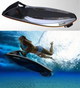 Submersible jet ski. Intended for underwater sports and bobbie. This ride will take you snorkeling and diving over larger area for sure. Another potential option for our Personal Water Craft [PWC] lineup. Would you rent this in the Florid Keys for your family? Or, corporate event?