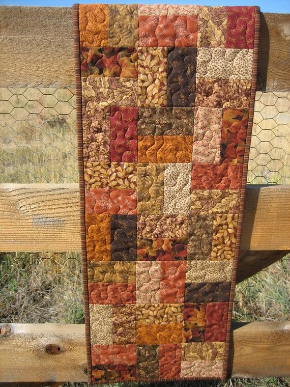 fall table runners with fall leaves images | Fall Leaves Table Runner by PatchworkMountain on Etsy
