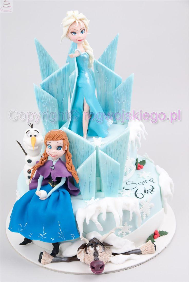 Tort Kraina Lodu.  kraina lodu, frozen cake, tort kraina lodu, torty dla dzieci, tort dla dziecka kraina lodu http://rogwojskiego.pl