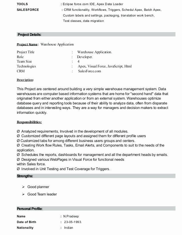 Luxury Salesforce Developer Resume Geinofo Project Manager Resume Resume Examples Medical Coder Resume