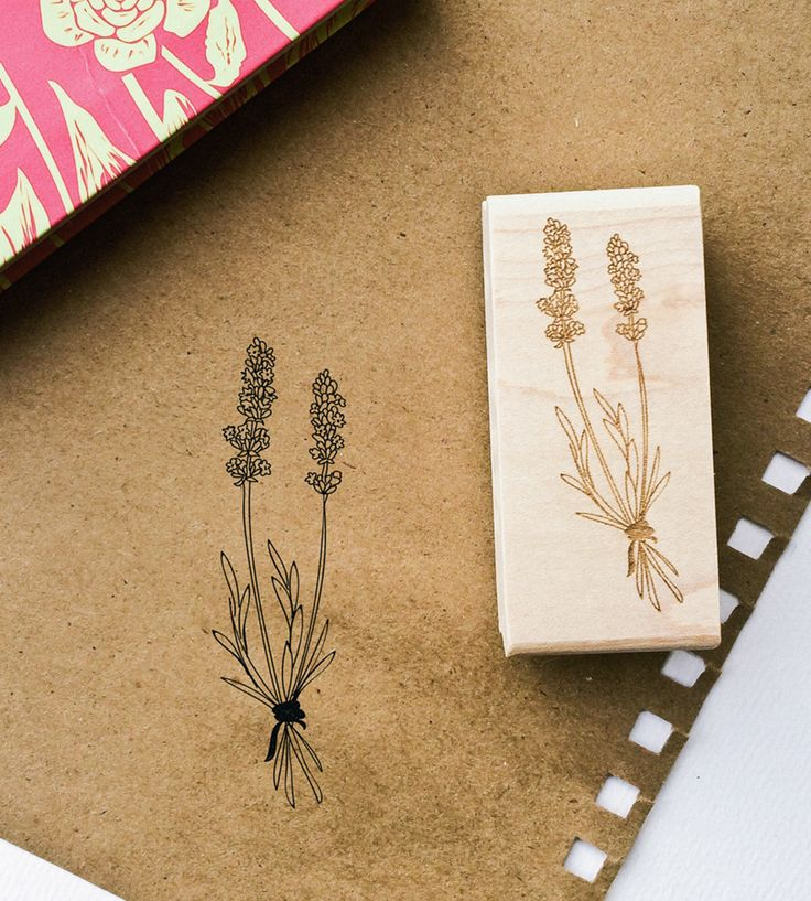 Lavender Rubber Stamp | For adding a delicate touch to cards, snail mail and gift tags... | Decorative Stamps