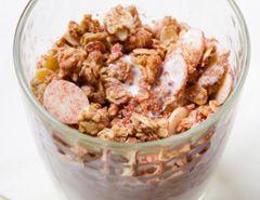 Homemade fruity nutty muesli