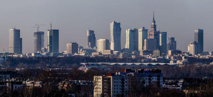 Warsaw Skyline At 2014   by Filip Bramorski