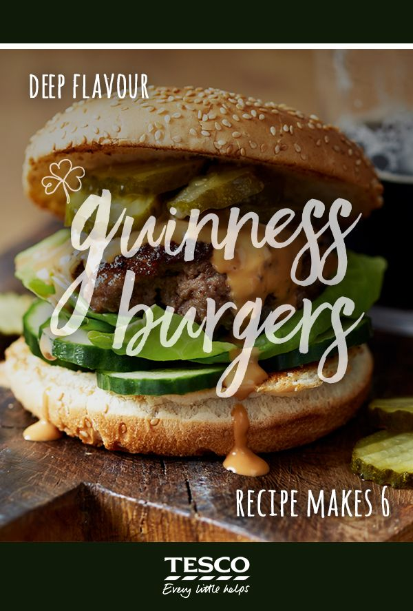 Here's a simple recipe for a stout and beef mince burger recipe that binds the other burger ingredients easily. The perfect St. Patrick's Day feast!