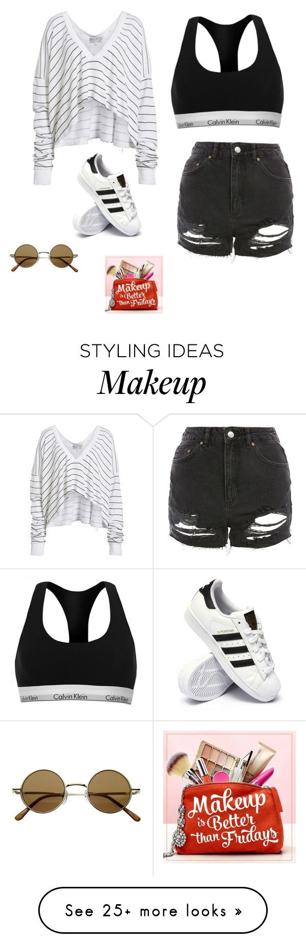 """Untitled #117"" by jellyfish12345 on Polyvore featuring Wildfox, Calvin Klein, Topshop, adidas, ULTA and jellyfish12345"