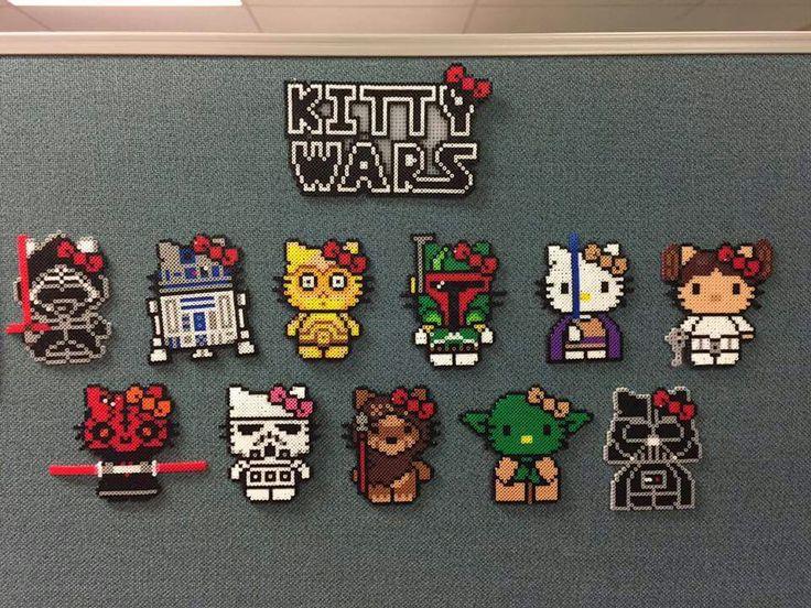 Hello Kitty Star Wars Perler Beads, Kitty Wars