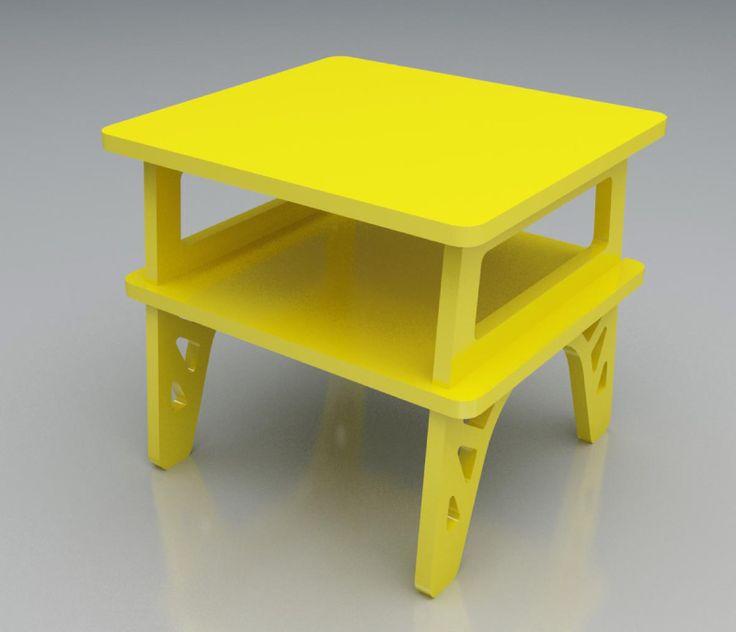 Mesa de luz barcelona amarilla desli design your life for Mesas diseno barcelona