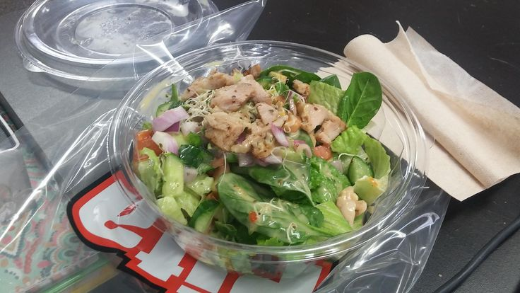 When I have no time to meal prep - pita pit has my back! Less than 100 calories for this lunch salad