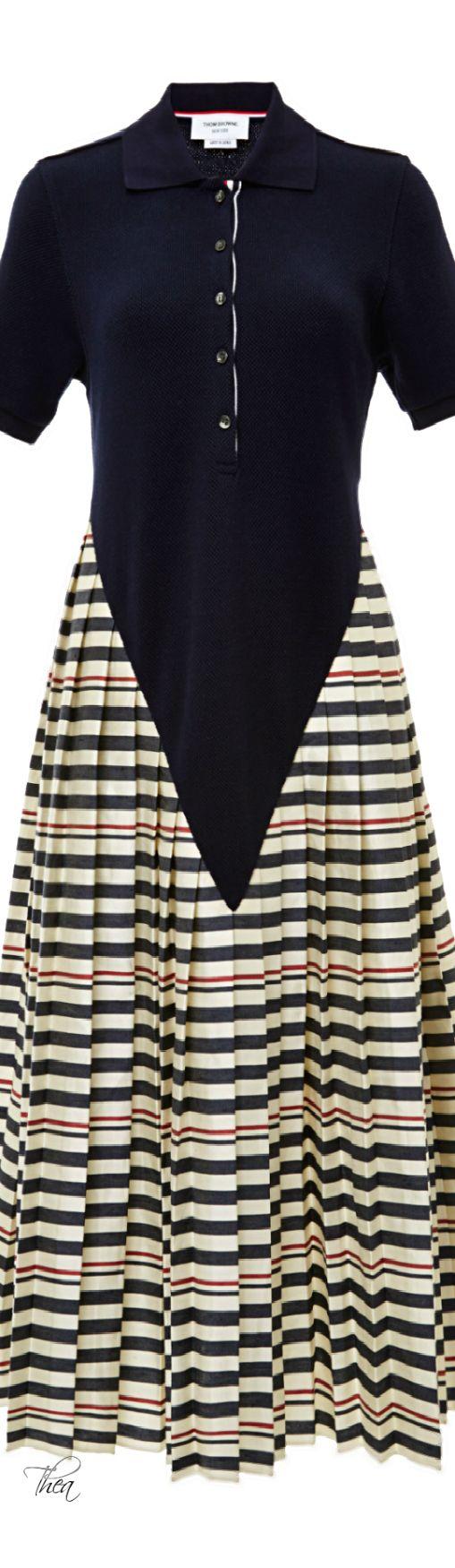 Thom Browne ● Resort 2015 Classic Thigh Length Shirt Dress