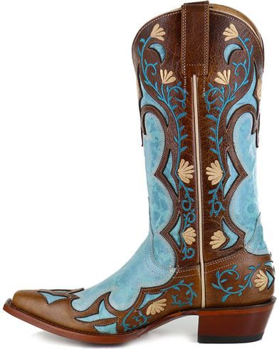Shyanne Women's Embroidered Inlay Western Boots - Snip Toe - Country Outfitter