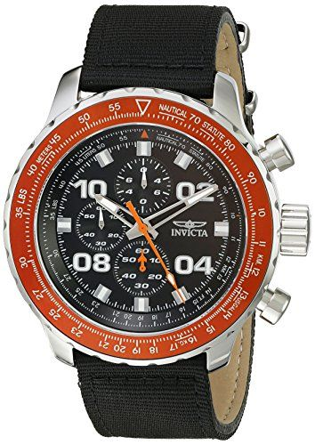 Men's Wrist Watches - Invicta Mens 18776SYB Aviator Analog Display Quartz Black Watch >>> Check out this great product.