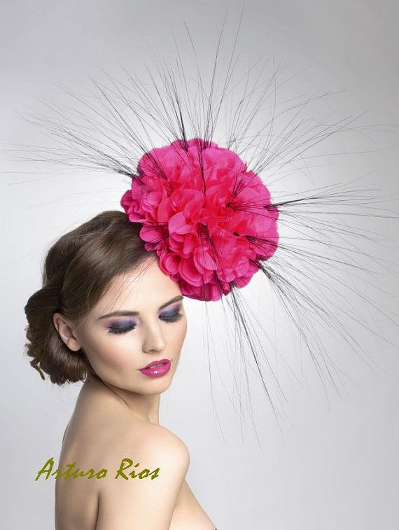 Silk Poppy Fascinator Headpiece by ArturoRios on Etsy, $259.00