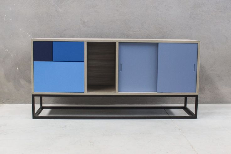 The Royal Blue Sideboard has all the measures inspired by golden number. Straight lines, uncomplicated desing and colors to amuse. It looks beautiful in the living room, bedroom or office. #bluesideboard #modernsideboard #sideboard #woodsideboard