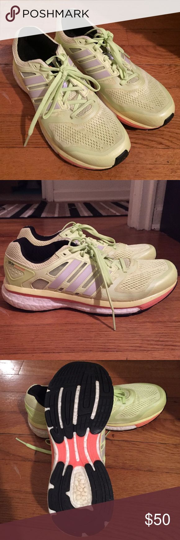 • ADIDAS • supernova boost Adidas supernova boost. Women's size 8.5. BRAND NEW! Worn once!!! Too big for me! Adidas Shoes Sneakers