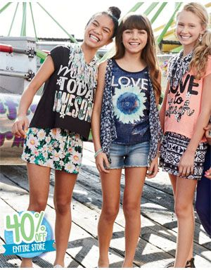 Preteen clothing store