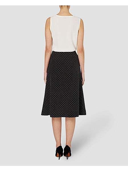 Spot Silk Skirt